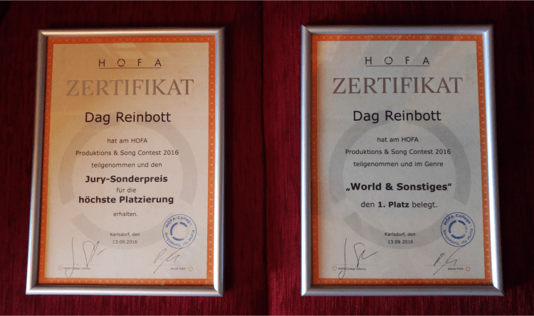 Gewinner Hofa Produktions und Song Contest 2016